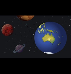 The planets of the solar system vector