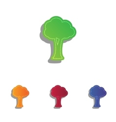 Tree sign Colorfull applique icons vector image vector image