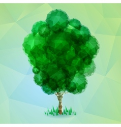 Triangle green tree vector