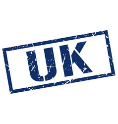 Uk blue square stamp vector