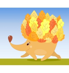 Autumn hedgehog vector