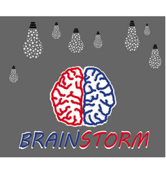 Brainstorming creative idea vector