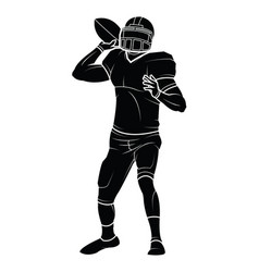 American football players silhouette vector