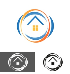 House home logo icon vector