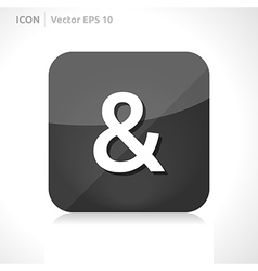 Ampersand icon vector