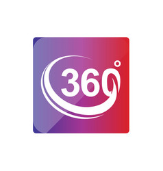 360 degree within a square icon vector