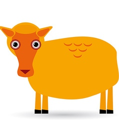 Cartoon of a sheep on white background vector