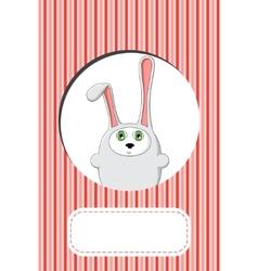 rabbit gift card design vector image