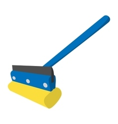Mop for cleaning windows icon vector