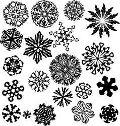 Winter snowflakes pattern vector