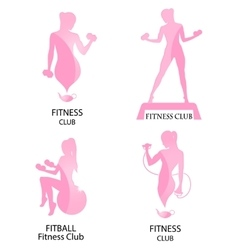 Fitness club pink icon vector