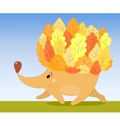 Autumn hedgehog vector image vector image