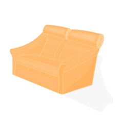 Beige-velvet-chair vector