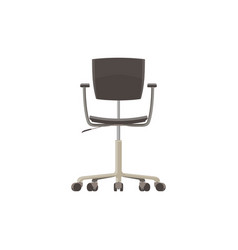 chair office icon black isolated furniture vector image