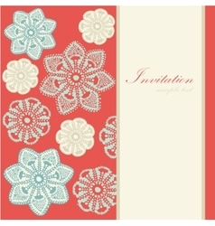 Christmas vintage card invitation lace vector image