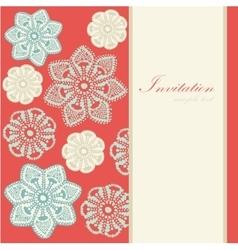 Christmas vintage card invitation lace vector