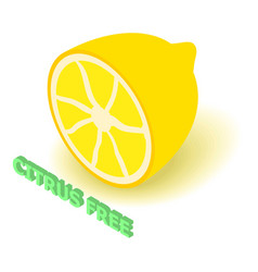 Citrus allergen free icon isometric style vector