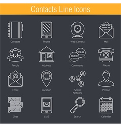 Contacts Icons vector image vector image