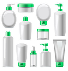 cosmetic packaging icons set 13 vector image vector image