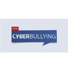 Cyberbullying banner template isolated vector
