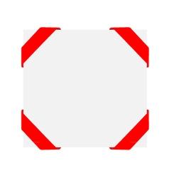 Decorative corner red ribbons vector