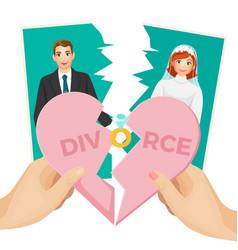 Divorce concept of splitted vector