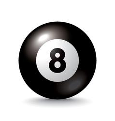Eight ball icon vector