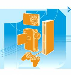 entertainment technology vector image