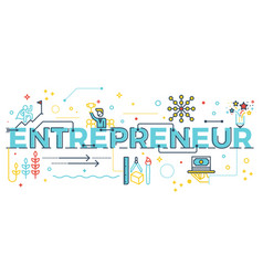 entrepreneur word lettering vector image vector image