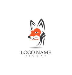 fox head logo and symbols template app vector image vector image