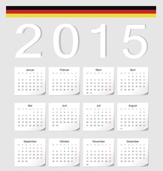 German 2015 calendar with stickers vector