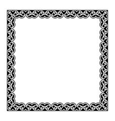 Gypsy ornamental frame square border vector