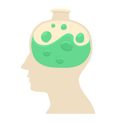 Head with flask icon cartoon style vector