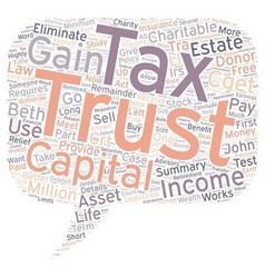 How to eliminate capital gains tax text background vector