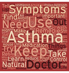 How to live with your asthma text background vector