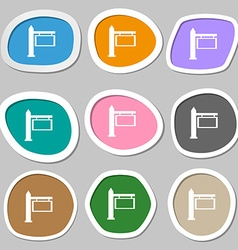 Information road sign icon sign multicolored paper vector