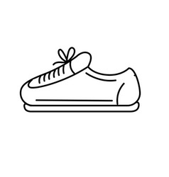 Line sneaker to practice exercise and train vector