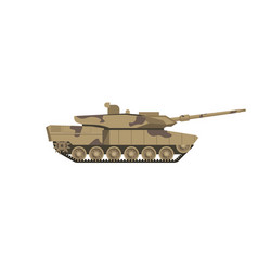 military tank of camouflage color isolated cartoon vector image