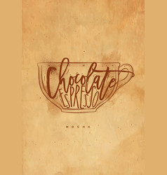 mocha cup craft vector image