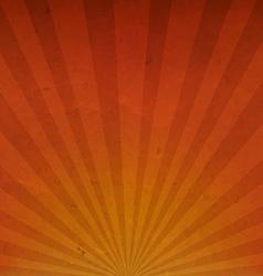 Orange Vintage Sunburst Cardboard Paper vector image
