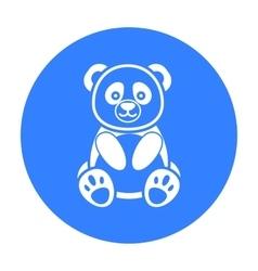 Panda icon black singe animal icon from the big vector