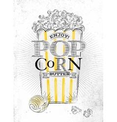 Poster popcorn butter vector