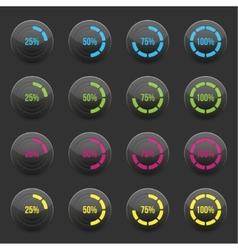 Round progress bar element vector