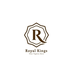 Royal logo template vector image