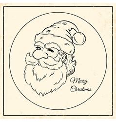 Santa vintage black vector image vector image