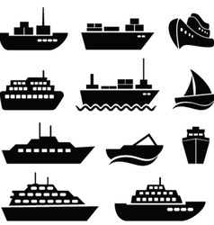 Ship and boat vector image vector image