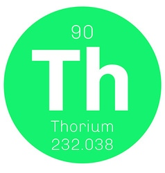 Thorium chemical element vector image vector image