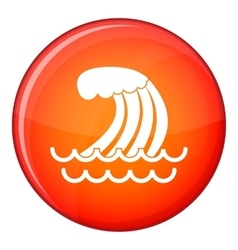 Tsunami wave icon flat style vector