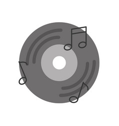 vinyl old music with notes vector image