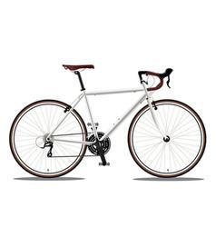 White bicyle vector